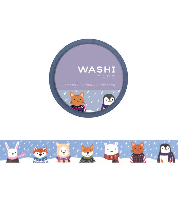 Animals in the Snow Washi Tape